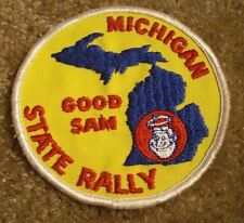 VINTAGE MICHIGAN STATE RALLY Good Sam club chapter collectible patch MAP