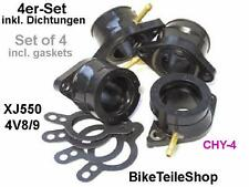 NEW: 4x Carburetor holder for YAMAHA XJ 550 4V8 /9 XJ550 YICS / intake manifold