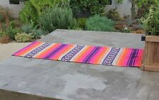 "Mexican Falsa Classic Blanket Table Runner 70"" by 13"".  Choose from many colors"