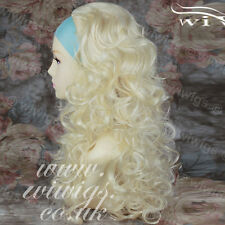 HOT Curly  Blonde Long 3/4 half Wig Fall Hairpiece Hair Lady Wig from WIWIGS UK