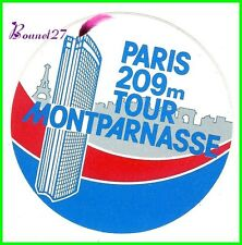 Ancien Autocollant Stickers Paris 209 m La Tour Montparnasse