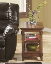 Ashley Chair Side End Table Cross Island Medium Brown T719-7 End Table NEW