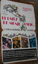 Used - Cartel de Cine  EL RALLY DE MONTECARLO  Vintage Movie Film Poster - Usado