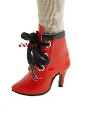 Shoes for Tonner Ellowyne Wilde Doll Ankle Boots Cami Short Red Patent w / Black