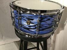 Ludwig Classic Maple Blue White Oyster custom snare drum