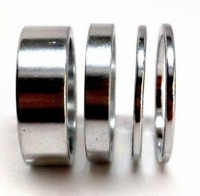 """SILVER BIKE BICYCLE 1 1/8"""" HEADSET SPACERS SET 2mm 5mm 10mm SILVER NEW"""