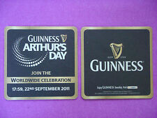 Beer Bar Coaster ~ GUINNESS Brewery from Ireland ~ Arthur's Day Celebration 2011