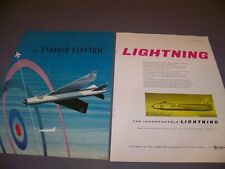 VINTAGE..1959 ENGLISH ELECTRIC LIGHTNING..ORIGINAL COLOR SALES AD...RARE! (932J)