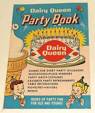 1960 DAIRY QUEEN PARTY BOOK promo comic magazine HOLIDAY ICE CREAM THEME ART dq