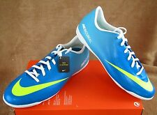 NEW NIKE JR MERCURIAL VICTORY IV IC SHOE BLUE/VOLT/PINK YOUTH 6Y