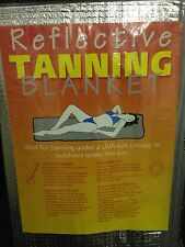 Reflective foil tanning blanket sunbed or outdoor use