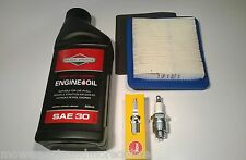 ENGINE SERVICE KIT- GENUINE BRIGGS 491588S AIR FILTER, NGK SPARK PLUG AND OIL