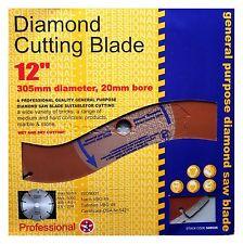"NEW 12"" 305 MM 20 MM BORE PROFESSIONAL UNIVERSAL DIAMOND CUTTING DISC GRINDER"