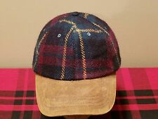 Polo Ralph Lauren Wool Plaid Hat Cap Adjustable NWT!!