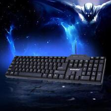 Waterproof Multimedia LED Illuminated Backlight USB Wired Gaming Keyboard For PC