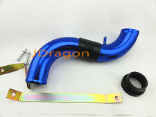 "58mm 2.25"" Blue Aluminum Cold Air Intake Induction Pipe Piping Tube Universal"