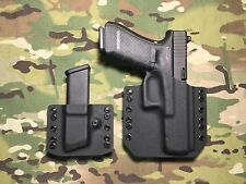Black Kydex Glock 17/22/31 Holster w/ Single Mag Carrier