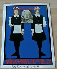 Sir Peter Blake Signed Autograph Official Postcard MILKMAIDS CCA Galleries & COA