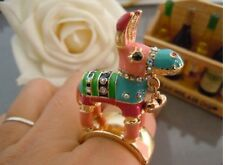R41 BETSEY JOHNSON Little Baby Pony Horse With Heart Bell Donkey PINATA Ring US