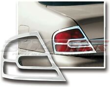 FITS NISSAN ALTIMA 1998 - 2001 FACTORY FIT CHROME TAIL LIGHT TRIM BEZELS 2PCS