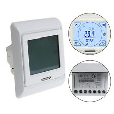 LCD Programmable Temperature Touch Screen Floor Heating Thermostat Controller