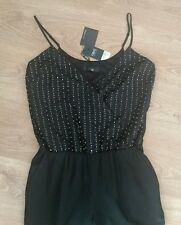 BNWT *NEXT* 12 (UK), BLACK EMBELLISHED JUMPSUIT,TAILORED,EVENING,HOLIDAY,TAPERED