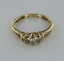 .20 ctw Diamonds 10k Yellow Gold Cocktail Ring Size 4.5 (1.55 grams)