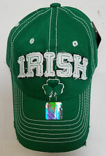 St. Patricks Day - IRISH - GREEN Embroidered Baseball Hat