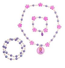 Disney Store Sofia the First Costume Dress Up Jewelry Necklace Bracelets 3pc Set