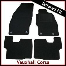 Vauxhall Corsa D 2006-2014 Fully Tailored Fitted Carpet Car Floor Mats BLACK