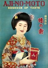 JAPANESE 1920 Aji No Moto Seasoning Advertisment Art Print Reproduction Geisha