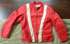 1960's BATES of California Leather Racing Jacket / 42 M / Made in USA / Used