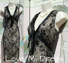 50's Style Pencil/Wiggle Lace Dress 14 EU42 Burlesque!
