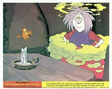 Walt Disney's THE SWORD IN THE STONE lobby card print #1 (yellow and red strip)