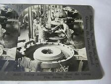 CURING PITS RUBBER TIRE PLANT AKRON OHIO STEREOVIEW CARD     T*