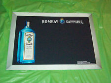 Bombay Sapphire London Dry Gin Doubled Sided Chalkboard Sign