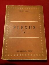 Plexus by Henry Miller, Limited Edition 1953. No. 1,329 Of 2,000 Very Rare