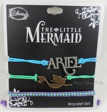 New Disney The Little Mermaid Ariel Charm Cord Bracelet Set 3 Pack Arm Party