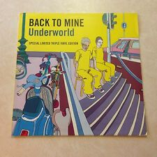 Underworld ‎Back To Mine 3xVinyl LP DMC UK 2003 [tags: Aphex Twin Depeche Mode]