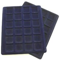 Two Coin display trays 24 x 33mm half crowns