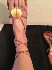 JIMMY CHOO Strappy Jeweled Ankle-strap Sandal  Sz: 40