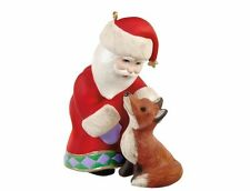 2012 Hallmark A VISIT FROM SANTA #4 Ornament ST. NICK and FOX *Priority Ship*