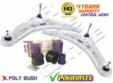 Para BMW 3 Series E46 Delantero Meyle HD inferior brazos de suspensión kit de arbustos POWERFLEX