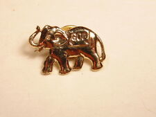 "Gold colored Elephant pin with Republican ""GOP"" legend"
