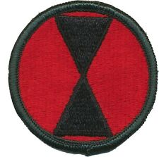 """3"""" 7th Infantry Division Dress Patch - 7th Division Light - Ft Ord - Ft Lewis -"""