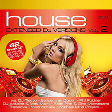 CD House Extended DJ Versions 2 von Various Artists   3CDs