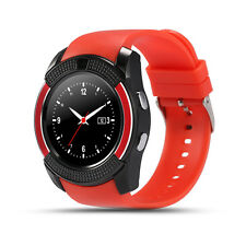 New Latest Round Face Bluetooth Smart Wrist Watch with Camera Touch Screen Mic