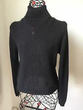 ETRO MILANO Black100% Cashmere Turtleneck Sweater sz.44
