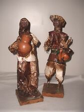 "Clothtique Wood Wire Sculpture Hard At Work Ederly Man & Woman 13-1/2"" High"