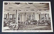 CPA CARTE POSTALE 1935 PAQUEBOT NORMANDIE SALON CLASSE TOURISTE